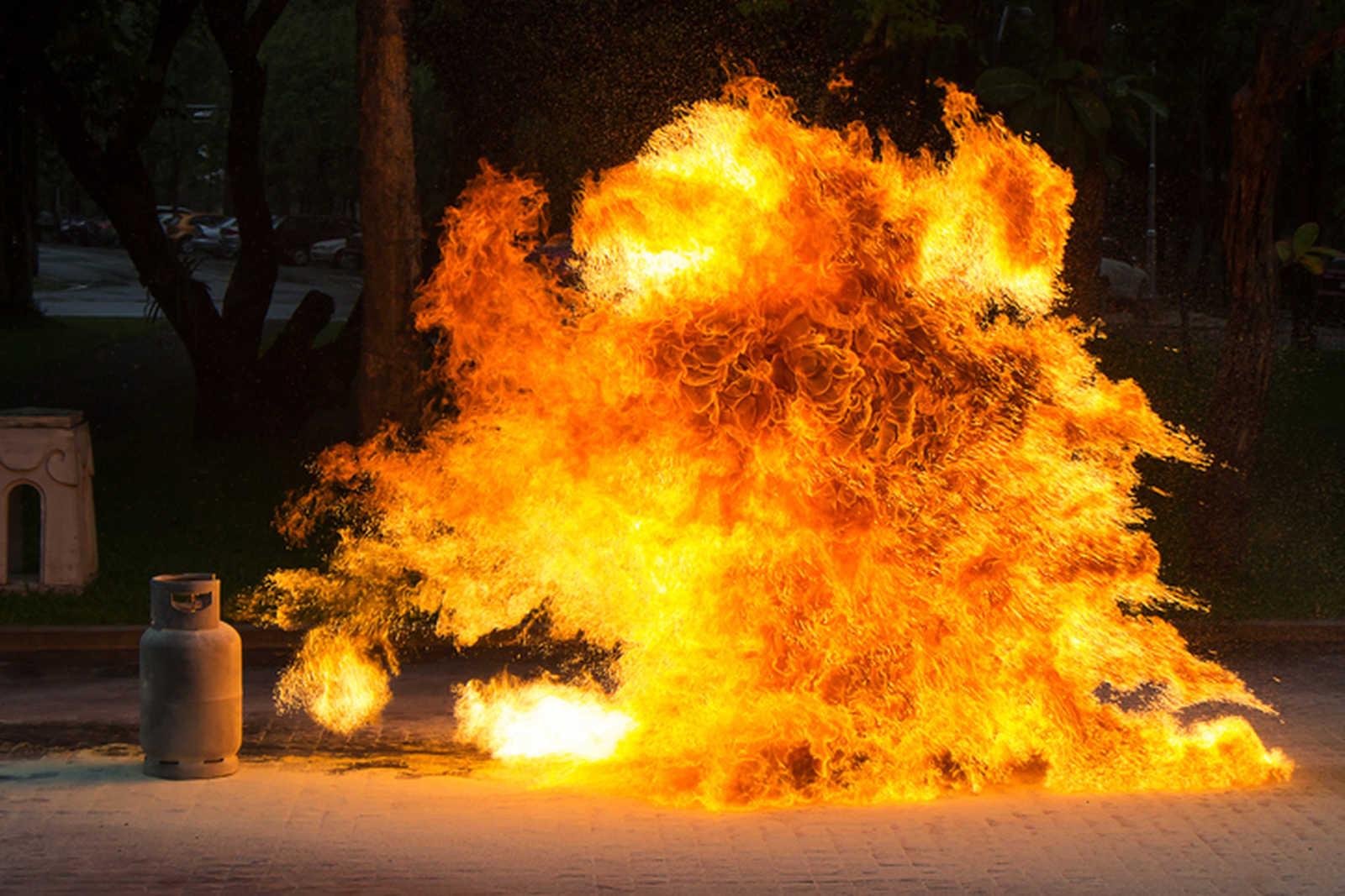 Butla gazowa ipłomienie